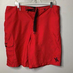 Hurley Red Swim Trunks